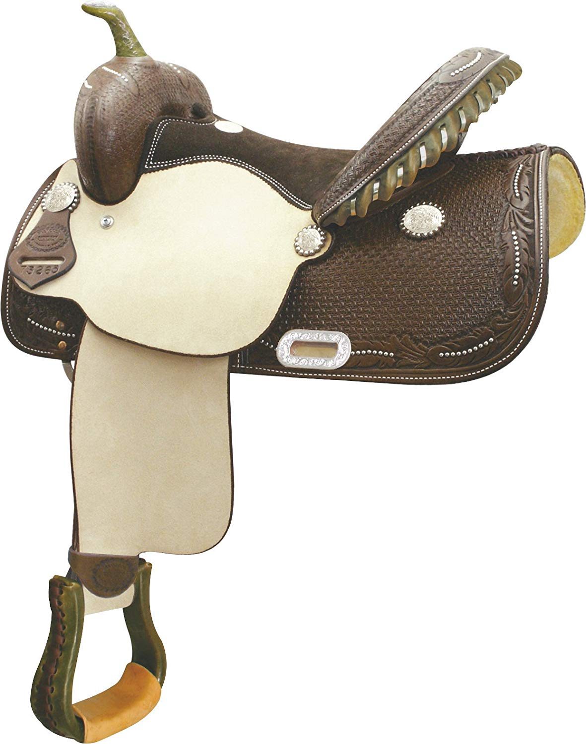 Billy Cook Saddlery Spotted Feather Saddle